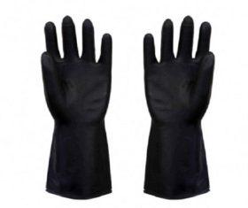 Γάντια LATEX Μαύρα INDUSTRIAL07.09.0016