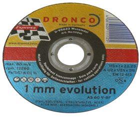 Δίσκος Κοπής Σιδήρου 115x1x22 DRONCO 1mm EVOLUTION08.01.0231