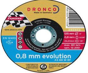 Δίσκος Κοπής Σιδήρου 125x0,8x22 DRONCO 0,8mm EVOLUTION08.01.1391