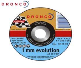 Δίσκος Κοπής Σιδήρου 125x1x22 DRONCO 1mm EVOLUTION08.01.0680