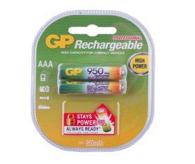 Επαναφορτιζόμενες Μπαταρίες GP RECHARGEABLE AAA 950 mAh 08.00.2346