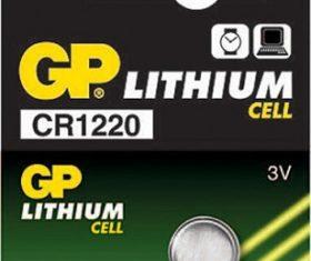Μπαταρία Λιθίου CR1220 GP 3V08.00.2421