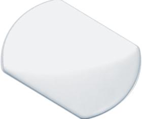 Blum HPL-KL 250 Πλάκα Συγκράτησης TIP-ON για Πόρτες, Κολλητό, Φυσικό χρώμα 955.1008