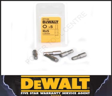 DeWALT Μύτες Σετ 5τμχ Hx5x25mm DT716608.05.1565