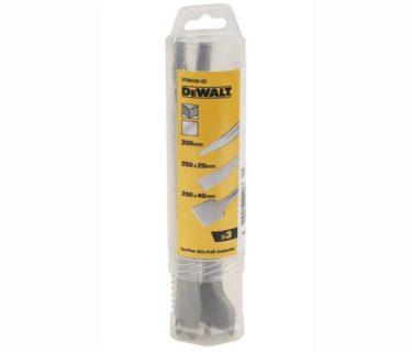 DeWALT Σετ 3τμχ Καλέμια SDS-PLUS & Βελόνι 250mm DT6033008.08.0343